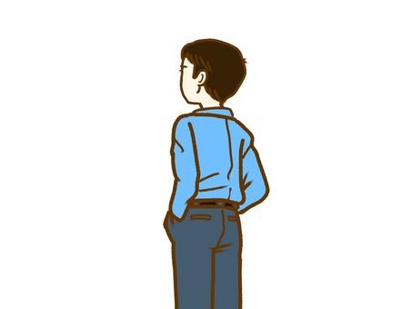 Male, Rear View