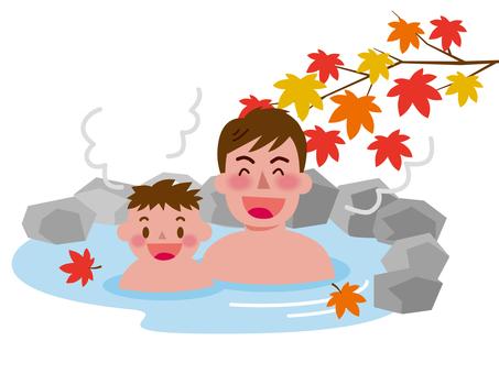 Autumn open-air bath-4
