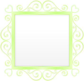 Curve · Heart frame · Green