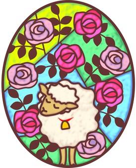 Roses and sheep dreaming