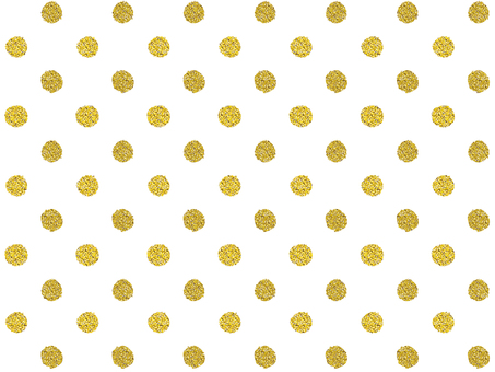 Gold, gold, glitter dot [Large]