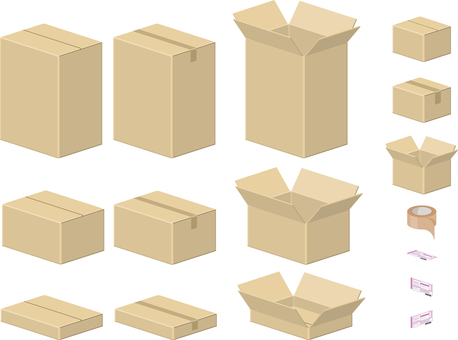 Cardboard boxes Various sets