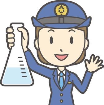 Female police officer-211-bust