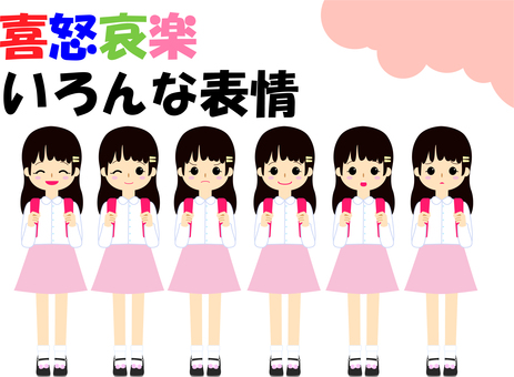 【Elementary school stud ver] Emotions and sorrow various facial expressions