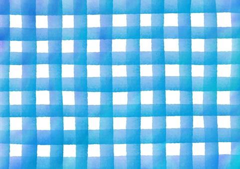 Check patterned watercolor texture · Blue