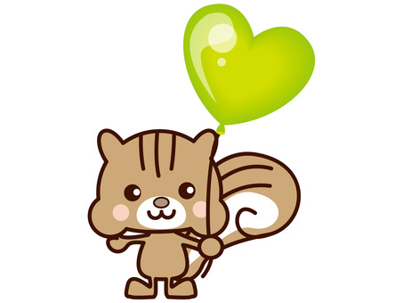 Squirrel and balloons