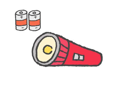 Flashlight and battery