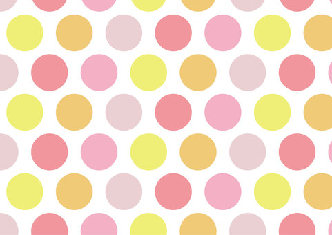 Spring colored dots background