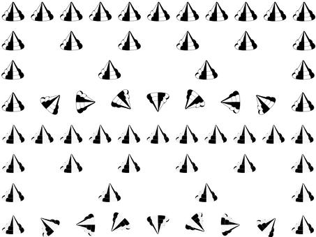 Turn mark ruled line (monochrome)