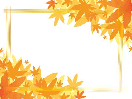 紅葉、秋イメージフレーム2