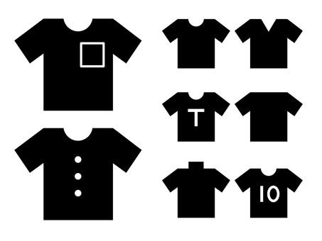 다양한 종류의 반팔 T 셔츠