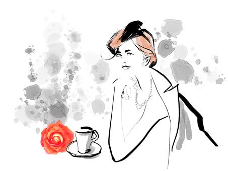 Fashionable female cafe