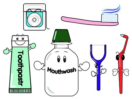 Dental illustration set