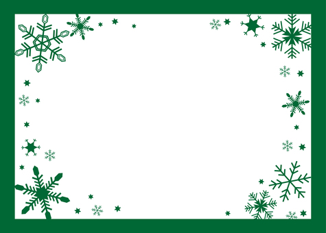 Snow crystal frame (green)