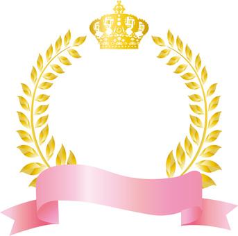 Free illustration Free material Crown Pink Frame