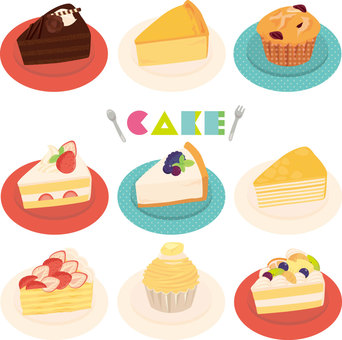 Cut cake set