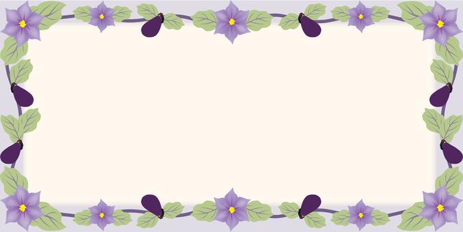 Eggplant flower frame