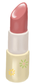 Lipstick with floral pattern