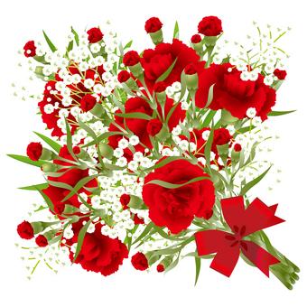 카네이션 먹풀 꽃다발 10