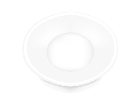 White round dish