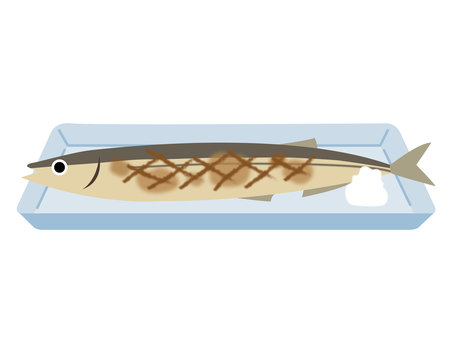 Sanma served on a plate
