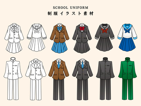 Uniform illustration set