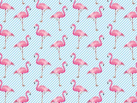 동물 _ 플라밍고 패턴 02