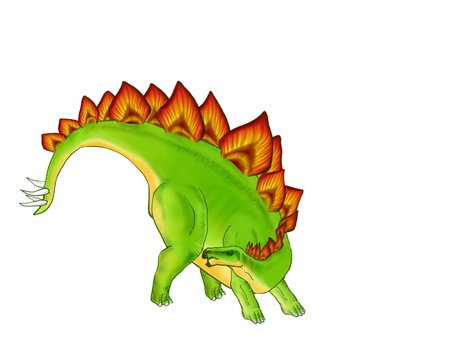 Stegosaurus to attack