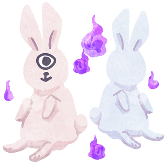 Youkai ② rabbit youkai watercolor