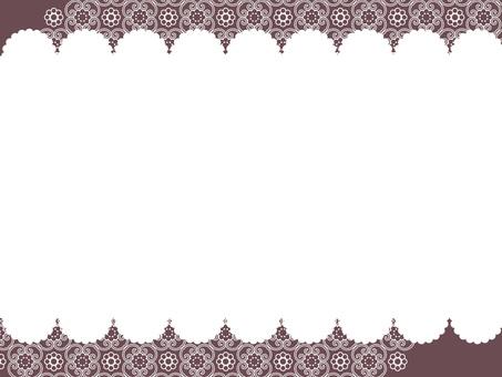아라베스크 무늬 프레임 3