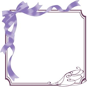 Ribbon frame (purple)