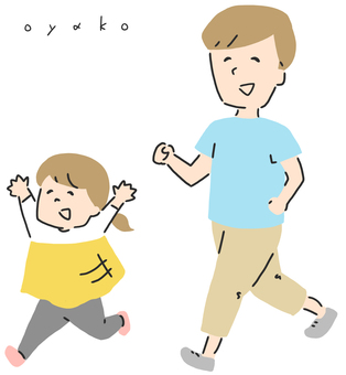 父母和孩子的插圖