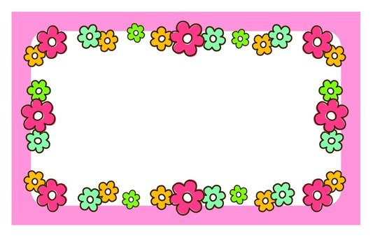 Small floral message card