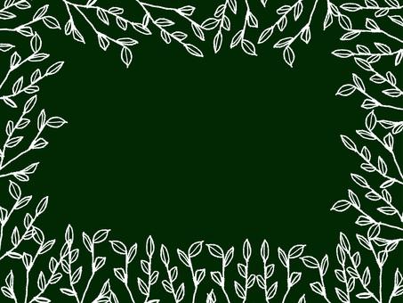 나뭇잎 프레임 칠판