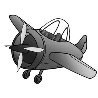 灰色可愛飛機