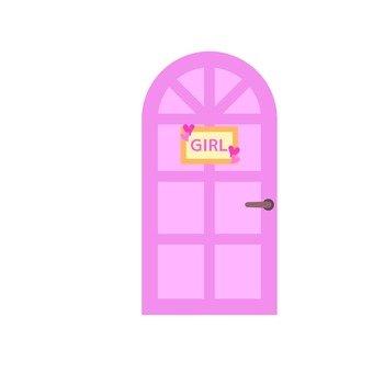 Girl room door