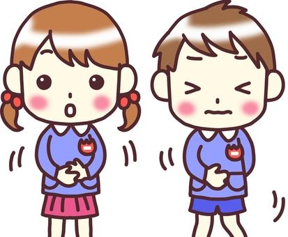 【Kindergartens】 Front _ Toilet fidget