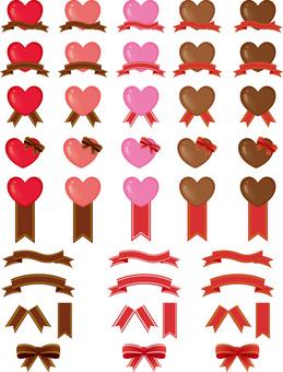 Heart and ribbon summary