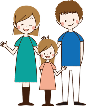 Smiling family of three people _ BN 02