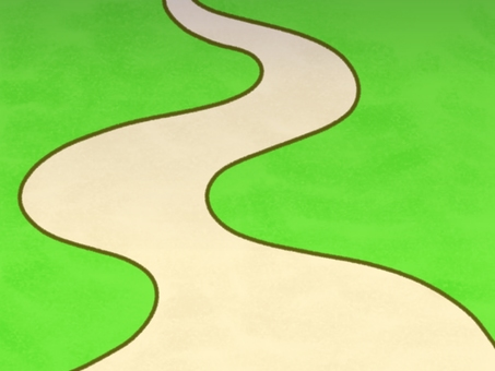 Winding road (with shadow)