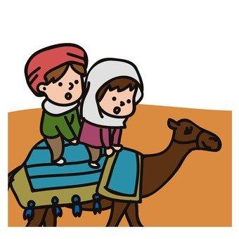 낙타를 타는 사람