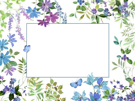 Flower Blue frame