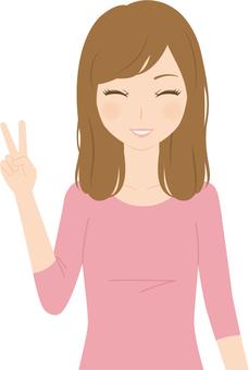 Female | Female College Student | Private Wear | Peace