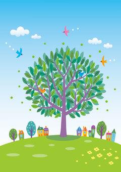 Hill tree 4