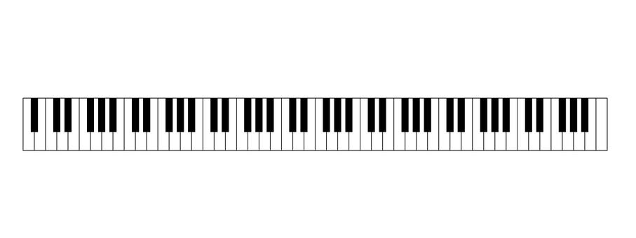 Piano's 88 keyboard