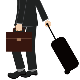 Image of a businessman (business trip / single appointment)