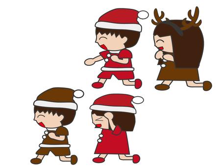 Children frolic at Christmas