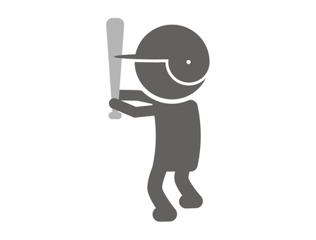 Stickman pictogram _ batter