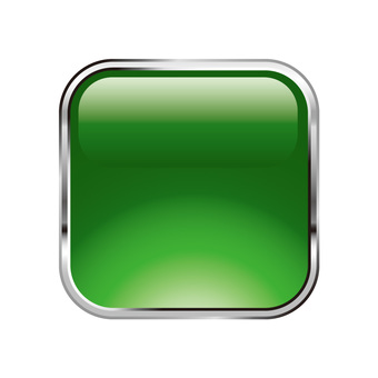 Metal solid rectangular icon button