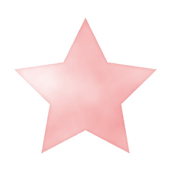 Watercolor hand drawn style star pink